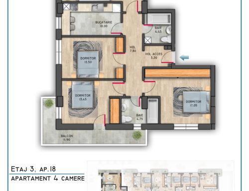 Postavarului Stylish Residence Etaj 3 Ap 18