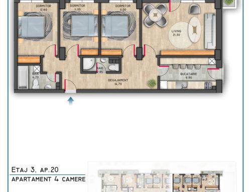Postavarului Stylish Residence Etaj 3 Ap 20