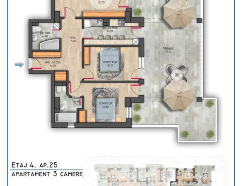 Postavarului Stylish Residence Etaj 4 Ap 25