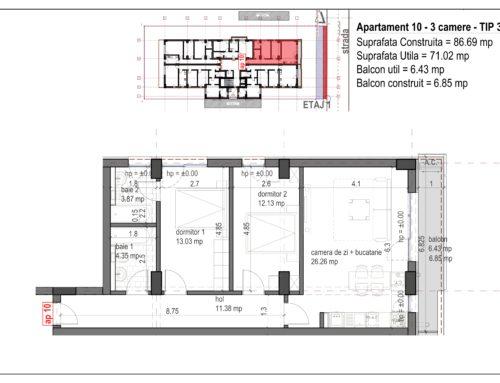 Postavarului Stylish Residence 2 Etaj1 Ap10