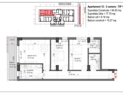 Postavarului  Stylish Residence 2 Etaj2 Ap12