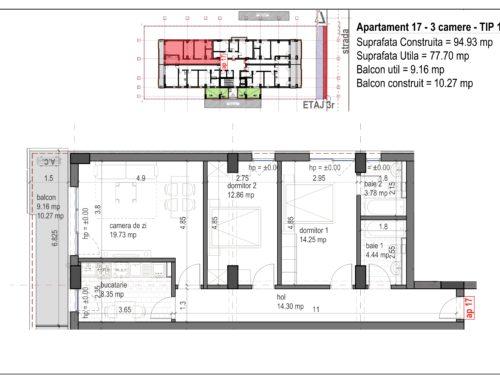 Postavarului  Stylish Residence 2 Etaj3 Ap17