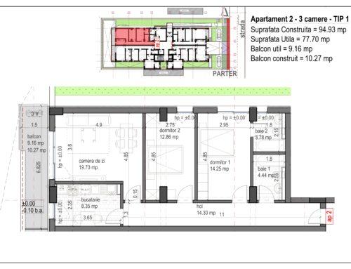 Postavarului  Stylish Residence 2 Parter Ap2