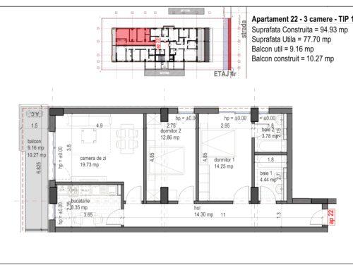 Postavarului Stylish Residence 2 Etaj4 Ap22