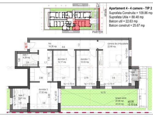 Postavarului  Stylish Residence 2 Parter Ap4