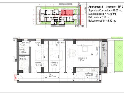 Postavarului  Stylish Residence 2 Parter Ap5
